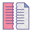 Cut Documents Paper Icon