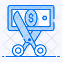 Cut Price Cost Minimize Cutting Icon