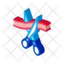 Scissors Cut Ribbon Icon