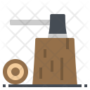 Cut Wood Stump Icon