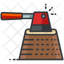 Chopping Wood Cut Icon