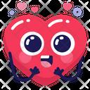 Emoji Heart Cute Icon