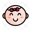 Cute Baby Baby Face Icon