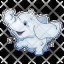 Cute Baby Elephant Icon