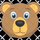 Bear Face Cute Icon
