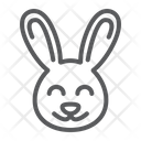 Cute Bunny Easter Icon