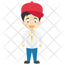 Cute Cartoon Boy Icon