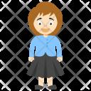 Girl Wearing Skirt Icon