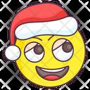Cute Christmas Emoji Icon