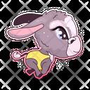 Cute Donkey Icon