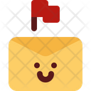 Cute Email Flag Icon