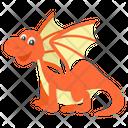Cute Flying Dinosaur Icon