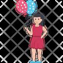 Balloon Girl Cute Girl Entertainment Icon