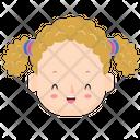 Cute Girl Kid Baby Icon