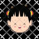 Cute Girl Kid Girl Icon