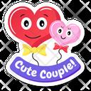 Cute Heart Balloons Icon