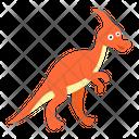 Cute Jurassic Dinosaur Icon