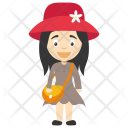 Girl Kids Hat Icon