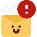 Cute Mail Caution Icon