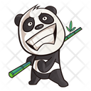 Cute Panda Feeling Excited Icon