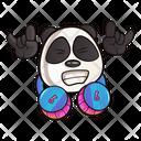 Cute Panda With Headphone Icon