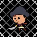 Cartoon Pirate Illustration Icon