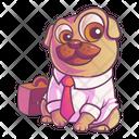 Cute Pug Is Wearing Shirt Icon