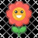 Cute Sunflower Floweret Flower Icon