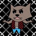 Vector Werewolf Anger Icon