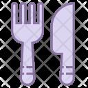 Cutlery Knife Fork Icon