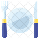 Cutlery Dinner Fork Knife Icon