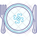 Cutlery Eating Plate Icon