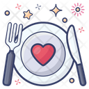 Cutlery Dine In Food Plate Icon