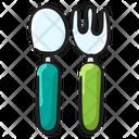 Cutlery Silver Cutlery Fork Spoon Icon