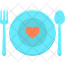 Cutlery Dating Dinner Icon