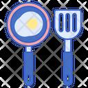 Cutlery Spatula Fry Pan Icon
