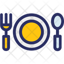 Cutlery Fork Plate Icon