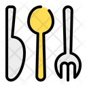 Cutlery Fork Knife Icon