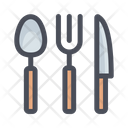 Cutlery Fork Spoon Icon
