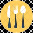 Cutlery Knife Spoon Icon