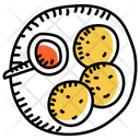 Meat Balls Cutlets Edible Icon