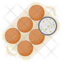 Cutlets Indian Cuisine Asian Food Icon