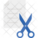 Cutting Paper Cut Scissors Icon