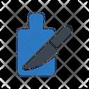 Cuttingboard Knife Vegetable Icon