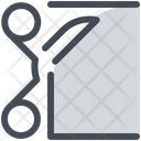 Scissors Cloth Cut Icon