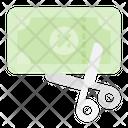 Cutting Coupon Cutting Scissor Icon