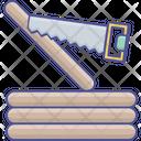 Cutting With Saw Wood Cutting Cutting Saw Icon