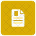 Cv Document Page Icon