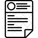 Cv Resume Template Icon