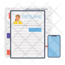 Resume Cv Curriculum Vitae Icon